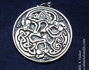 Triple Bear Triskele Pendant- a Celtic Design