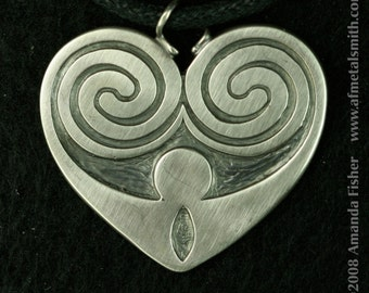 Kells Heart Pendant, a Celtic design