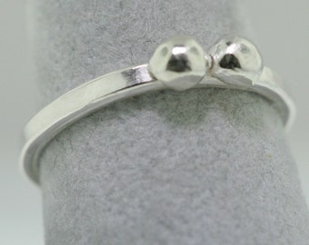 Silver Balls Trinket Ring- Stackable