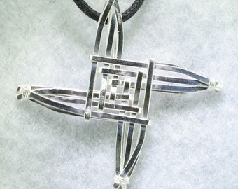 St Brigid's Cross Pendant, Individually Handmade