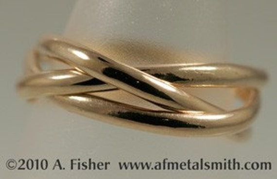 Borromean Rings in 14k Yellow Gold