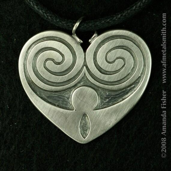 Kells Heart Pendant, a Celtic design