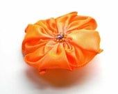 flower brooch in orange and pink