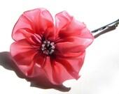 pink dogwood flower hairpin