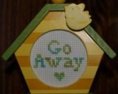 Cross Stitch - Framed - Go Away