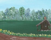 Miss Lilly's Place - Original Miniature Painting - by Majo