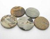 Destash - 35mm jasper coins