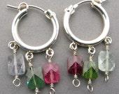 The Tourmalines hoop earrings