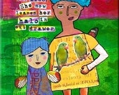 "Autism Awareness Quote. ""Finding it Distracts the Kids, She Now Leaves Her Halo in the Drawer."" ART MAGNET for Therapists. Teachers."