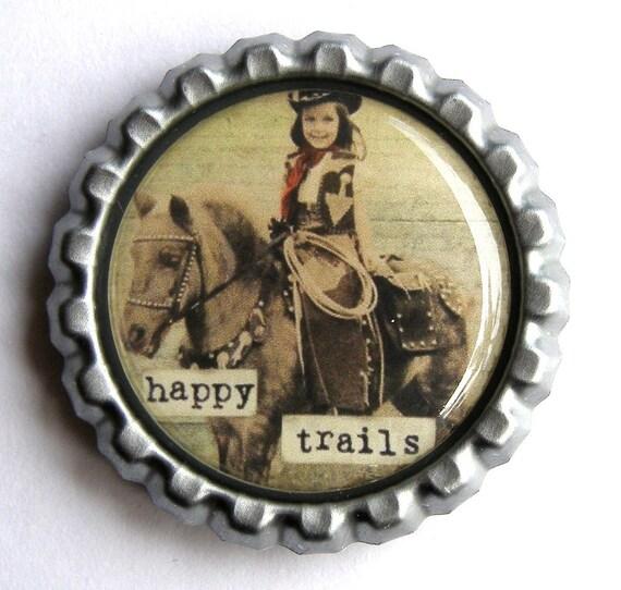 Bottle Cap Magnet - Happy Trails
