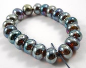 Set of Twenty Aurae Accent Handmade Glass Beads