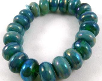 Set of Twenty Gaia Accent Handmade Glass Beads