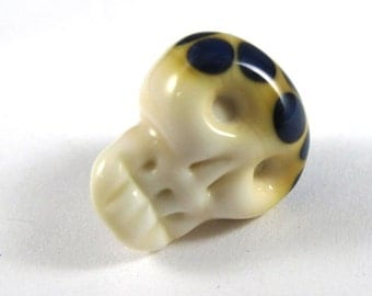 Handmade Glass Skull Bead with Kronos Accents