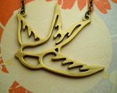 Swallow Bird  Necklace