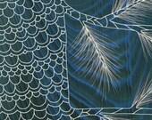 Lacebark Pine Tree - Navy Blue Nature Art Print - Modern Rustic Home 5x7