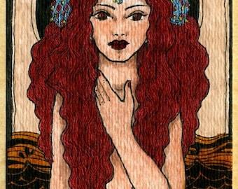 Aoife Mermaid print ACEO atc