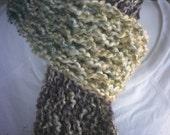 Hand knit scarf in Confetti