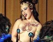 Pasties Pussycat  in Blue with GLUE