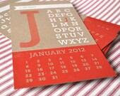 "SALE - 2012 calendar - ""Year of Type"""