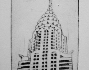 Etching Chrysler Building