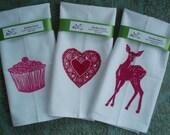 darling deer towel set