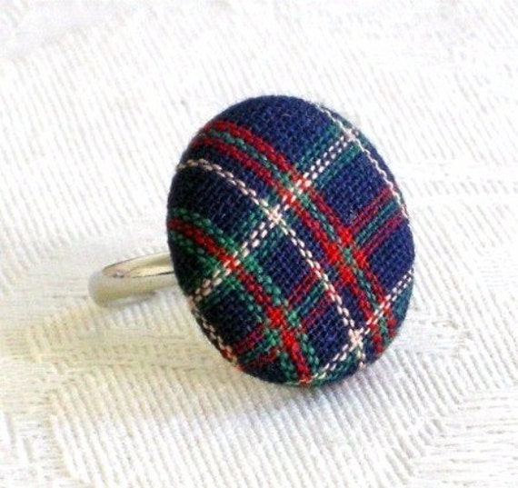 Scotland Is for Me - navy tartan ring