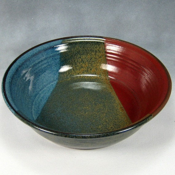 Deep Dish Pie Pan Handthrown Stoneware Pottery 2