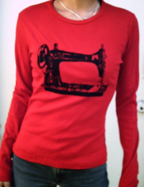 Sew a Go-Go Long Sleeve Shirt - Red
