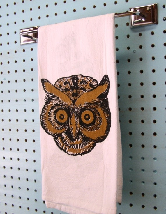 Owl kitchen towel woodland retro kitchen decor by Owl kitchen accessories