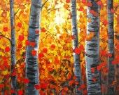 Sunrise through Autumn Aspens for Elizabeth