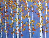 Abstract Autumn Aspens - Original Acrylic on a Extra Large Canvas by Patty Baker