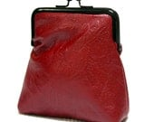 Maroon Leather Pico Pouch