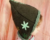 recycled wool sweater elf hat