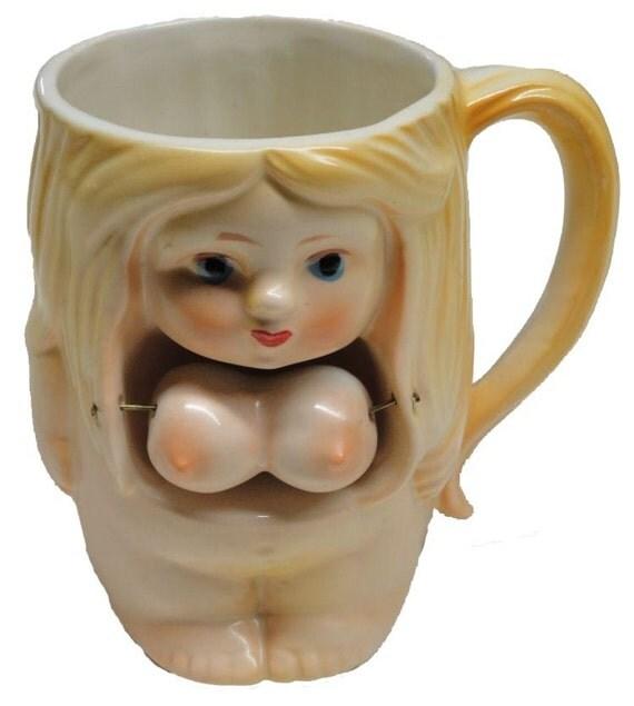 Vintage Risque Buxom Blonde Nude Nodder Coffee Mug