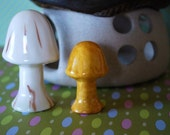 Two Vintage Ceramic Toadstools 1970s