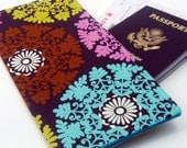 Travel Wallet Passport Cover in Big Bright Medallions