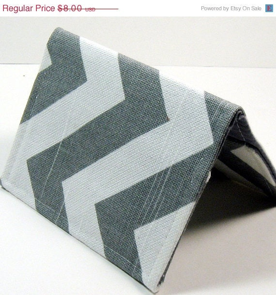 20% OFF Gray and White Chevron - Business Card Case