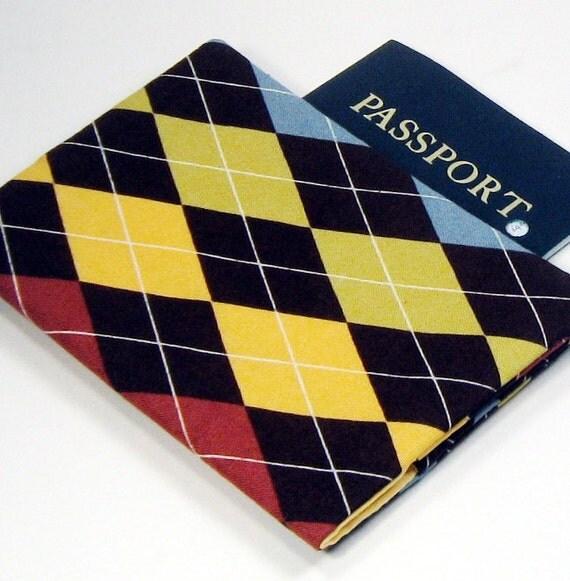 Passport Cover - Autumn Argyle