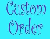 Custom order for Lynn - 3 matching  earring holders