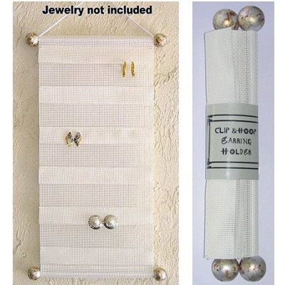 Clip And Hoop Earring Holder Organizer Jewelry Display