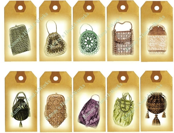 Vintage Tags of Victorian Purses - U-Print - Downloadable