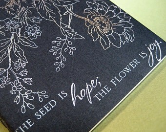 Hope and Joy in the Garden Moleskine Pocket Journal RED