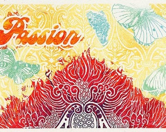 Passion, Like a Moth to the Flame Notecard set of 4
