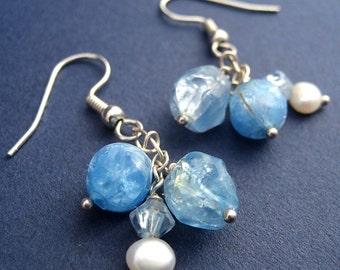 Icy Blue Earrings