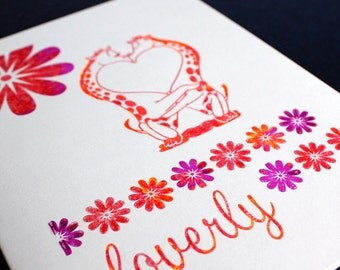 Loverly Valentine Notecard and Envelope