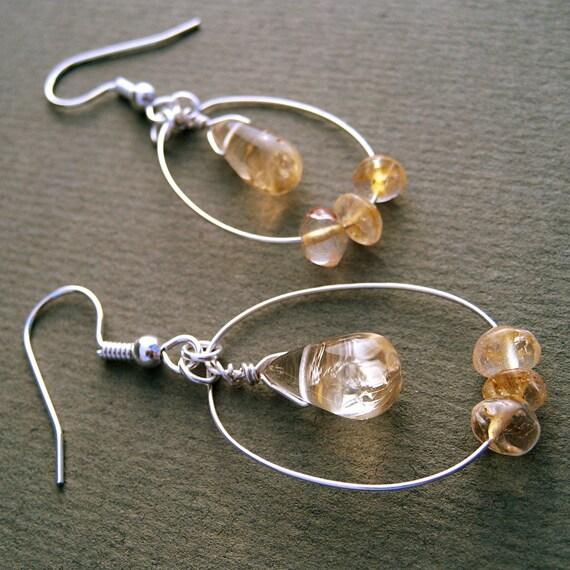 Citrine Teardrop Earrings