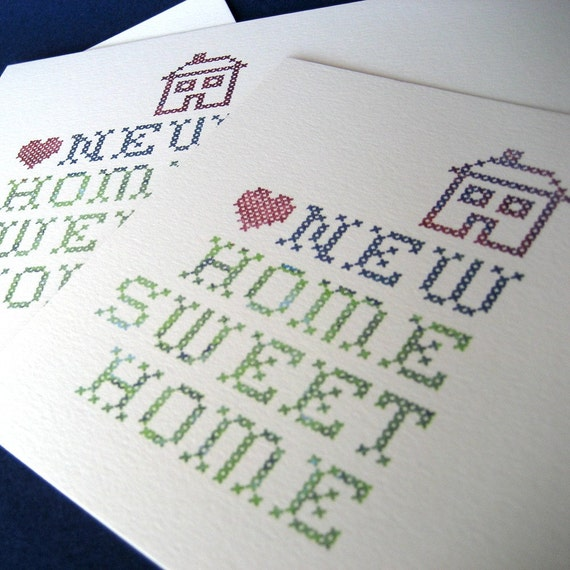 Home Sweet Home Personalized Moving Announcements, set of 8