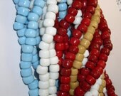 African Trade Padre Crow Bead Opaque LIGHT BLUE (32)