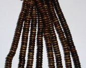 Brown Disc BONE Spacer Beads 5mm