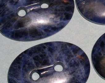 Unique Sodalite Oval Gemstone Button (1)